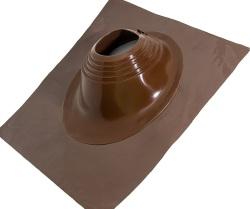 Уплотнительная манжета кровельная угловая  №2 (203-280) СИЛИКОН коричневая, окраш