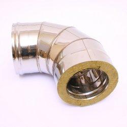 Сэндвич-колено Ferrum 90° (430/0,8 мм + оц.) Ø 115х200